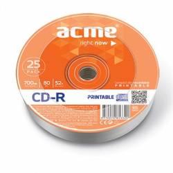 CD-R 80/700MB 52X 25db/henger nyomtatható