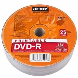 DVD-R 4.7GB 16X 25db/henger nyomtatható