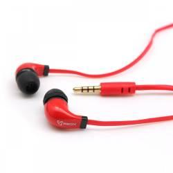 Sbox EP-038R mikrofonos fülhallgató szilikon véggel,piros