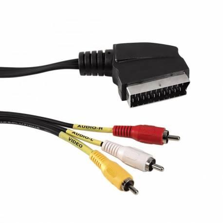 SCART - 3 x RCA- 1,5M audió kábel