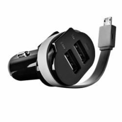 ACME CH15 3.1A USB autós töltő+csévélhető Micro USB kábel
