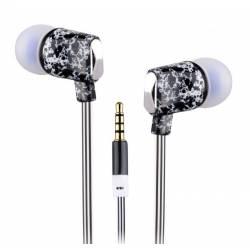 Sbox EP-831B mikrofonos fülhallgató szilikon véggel,fekete