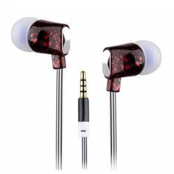 Sbox EP-813R mikrofonos fülhallgató szilikon véggel,piros
