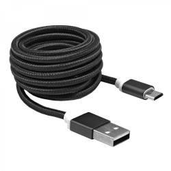 Sbox USB AM-MICRO-15B micro USB kábel - 1,5m,fekete