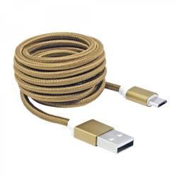 Sbox USB AM-MICRO-15G micro USB kábel - 1,5m,arany