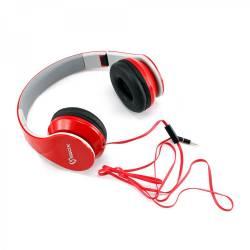 Sbox HS-501R Mikrofonos fejhallgató,piros