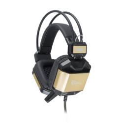 White Shark GH-1646BG JAGUAR gaming fejhallgató,fekete/arany