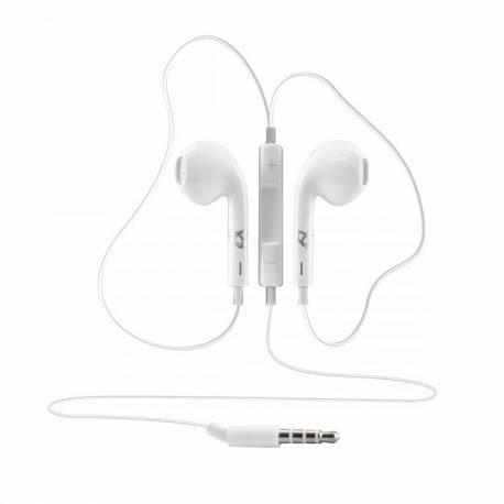 Sbox IEP-204W mikrofonos fülhallgató,fehér
