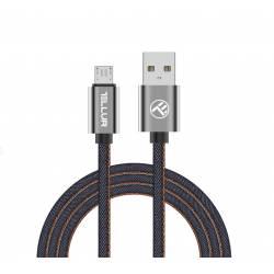 TELLUR TLL155371 USB - micro usb kábel kábel, farmer hatású, 1m