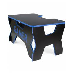 Generic Confort Gamer2DS/NB gamer asztal, fekete kék szegély
