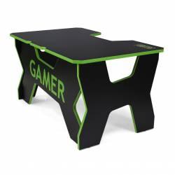 Generic Confort Gamer2DS/NE gamer asztal, fekete zöld szegély