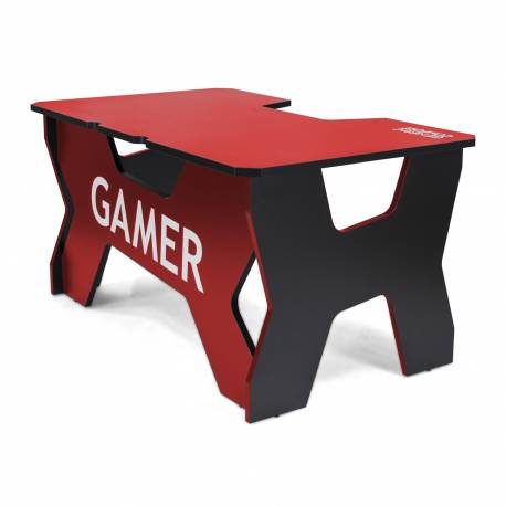 Generic Confort Gamer2NR gamer asztal, piros, fekete szegély