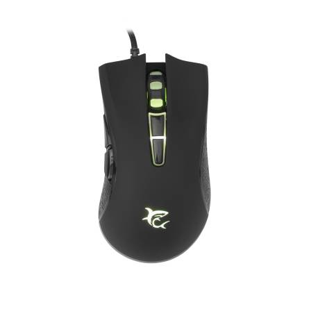 White Shark GM-5004B SARTACUS-2/B gaming egér,fekete, 6400 dpi