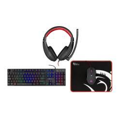 White Shark GC-4102 COMANCHE gamer csomag fejhallgató + egér + egérpad + billentyűzet (angol)